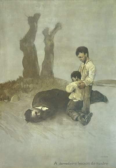 A derradeira leición do mestre (Castelão)