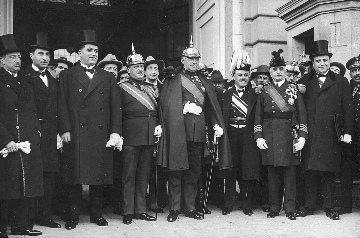 Members of the Civil Directorate of the government of dictator Primo de Rivera (1925)