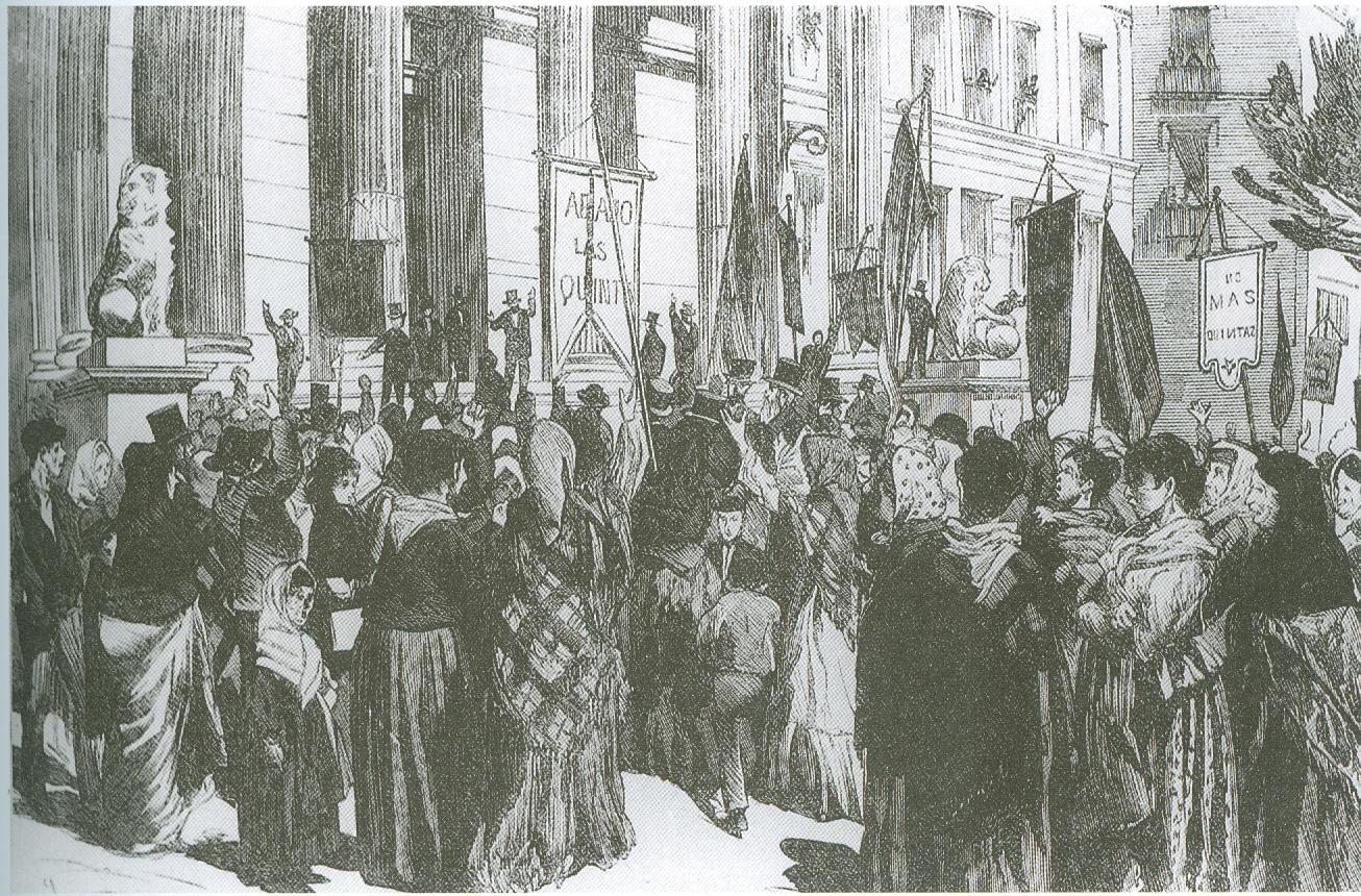 Manifestación contra las quintas