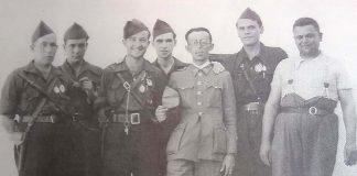 Grupo de falangistas de Montijo Archivo Histórico Municipal