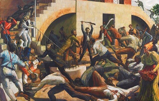 Morant Bay Rebellion, Painting by Barrington Watson