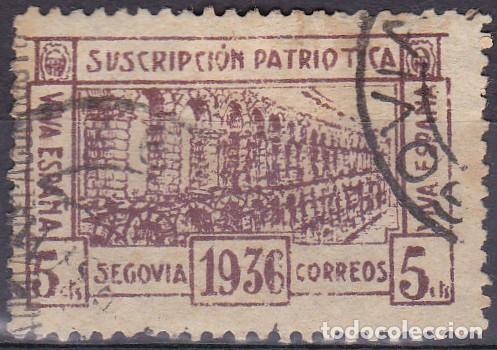 Luz 1 sello suscripción patriótica segovia 1936