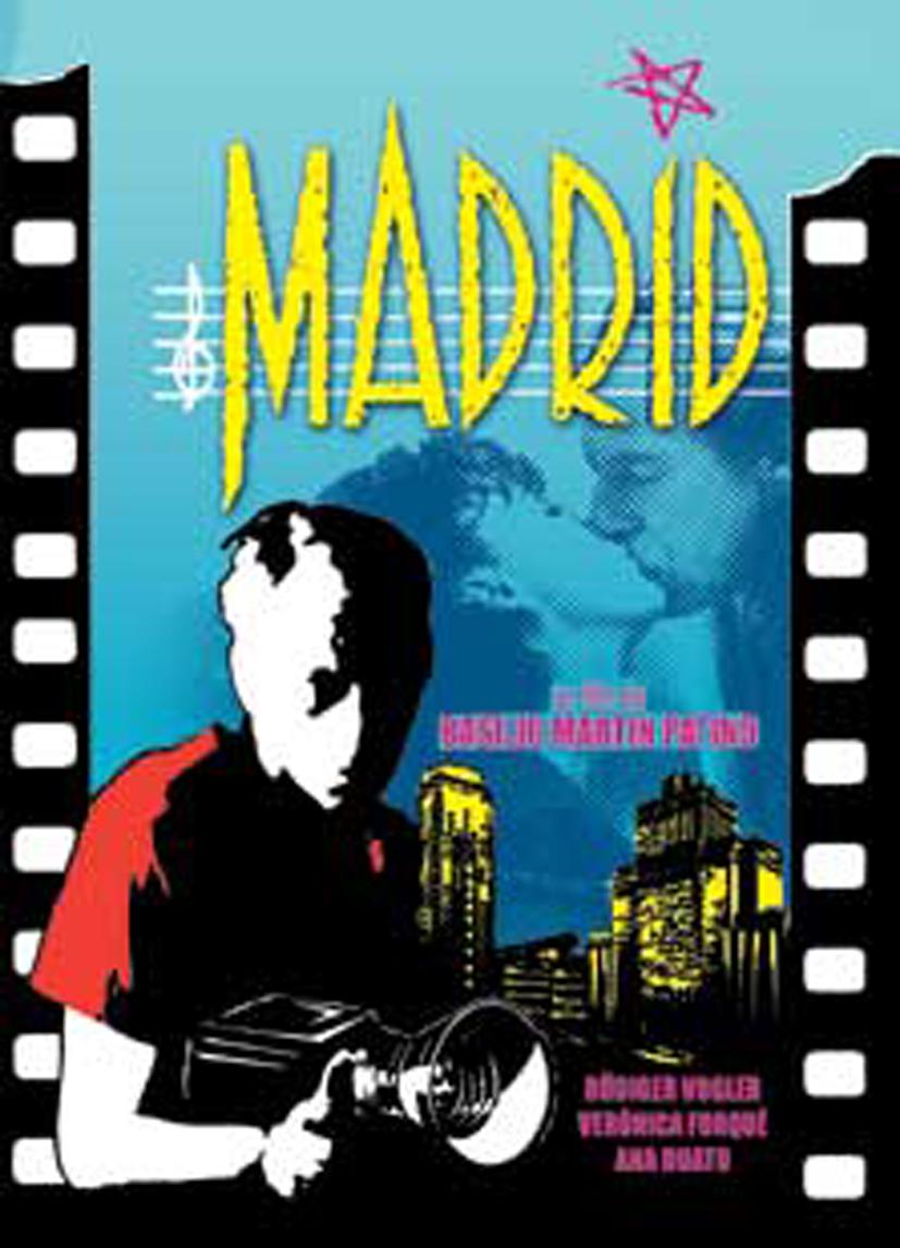 Cartel de Madrid con la imagen del protagonista alemán_