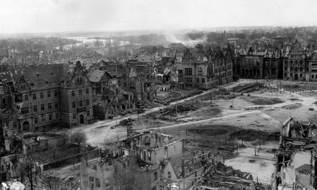 'Overcoming divisions did not happen because we were ordered to reconcile.' Destruction from Allied bombing in Munster, Germany, April 1945. Photograph: U.S. Army/Getty Images