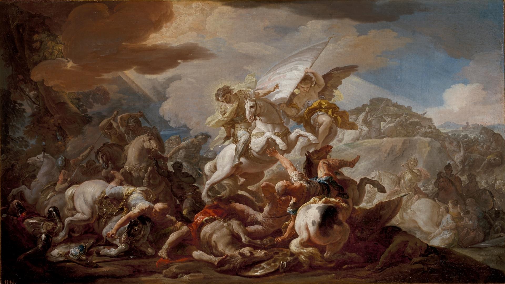 Pontón La Batalla de Clavijo por Corrado Giaquinto Museo del Prado