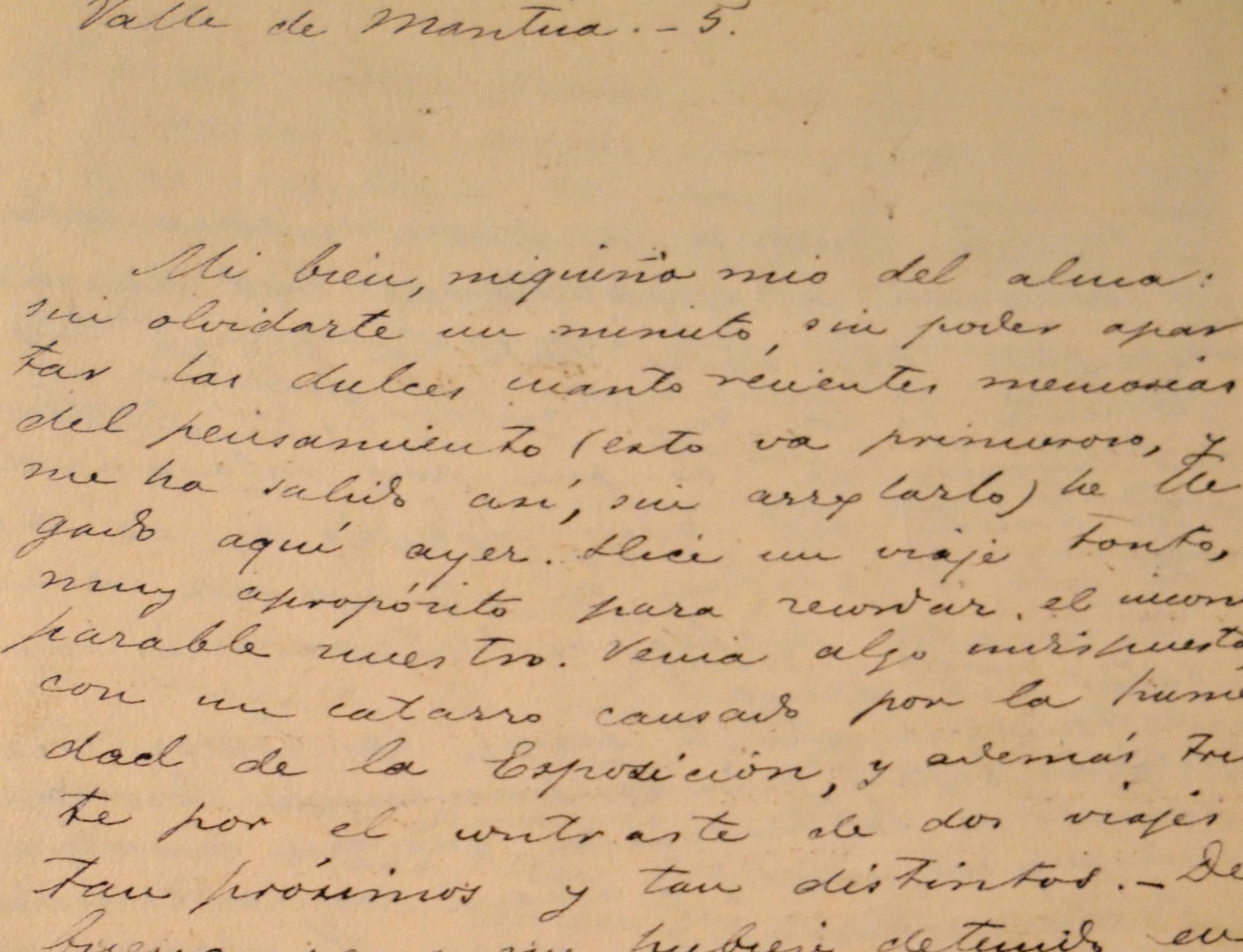 burdiel carta manuscrita de emilia archivo de la RAE