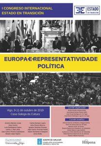 Congreso internacional. ESTADO EN TRANSICIÓN. Europa e Representatividade Política @ Casa Galega da Cultura, Vigo