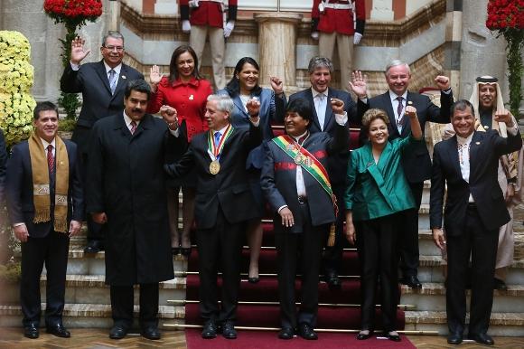 Medina toma-de-posesión-de-Evo-Morales-14