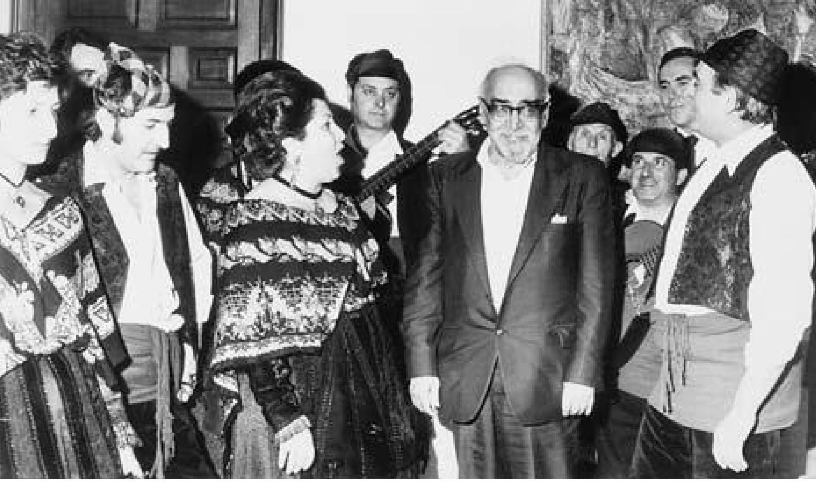 Homenaje jotero a Sender en Zaragoza 1974