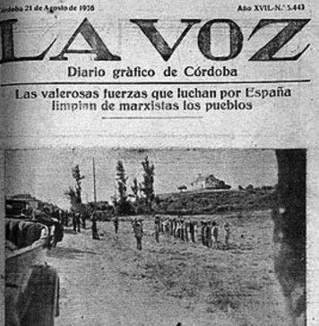Campesinos de Fernán Núñez. Portada de La Voz