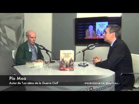 Pío Moa durante una entrevista radiofónica (foto: periodistadigital.com)