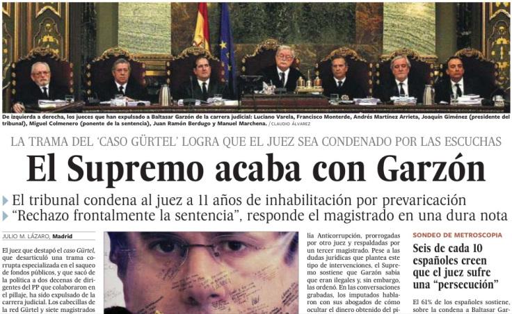 Garzón condenado