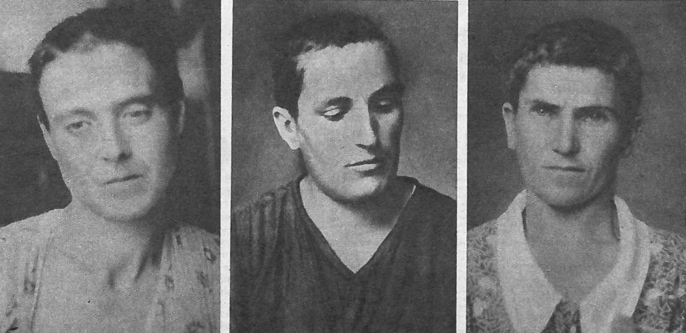 Pilar Franco Sarasa, Matilde Paños Pachen y Lucía Estallo Ascaso, afiliadas a la CNT de de La Peña (Huesca), rapadas por los franquistas (diario Ahora 9 de octubre de 1936)