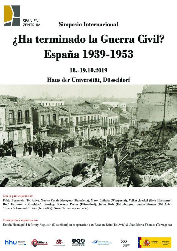2019-10-18-19 Congreso ¿Ha terminado la Guerra Civil? España 1939-1953