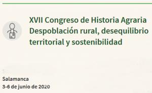 Nueva fecha - Congreso de Historia Agraria-SEHA @ Colegio Arzobispo Fonseca y Campus Viriato Zamora (el 4/6)